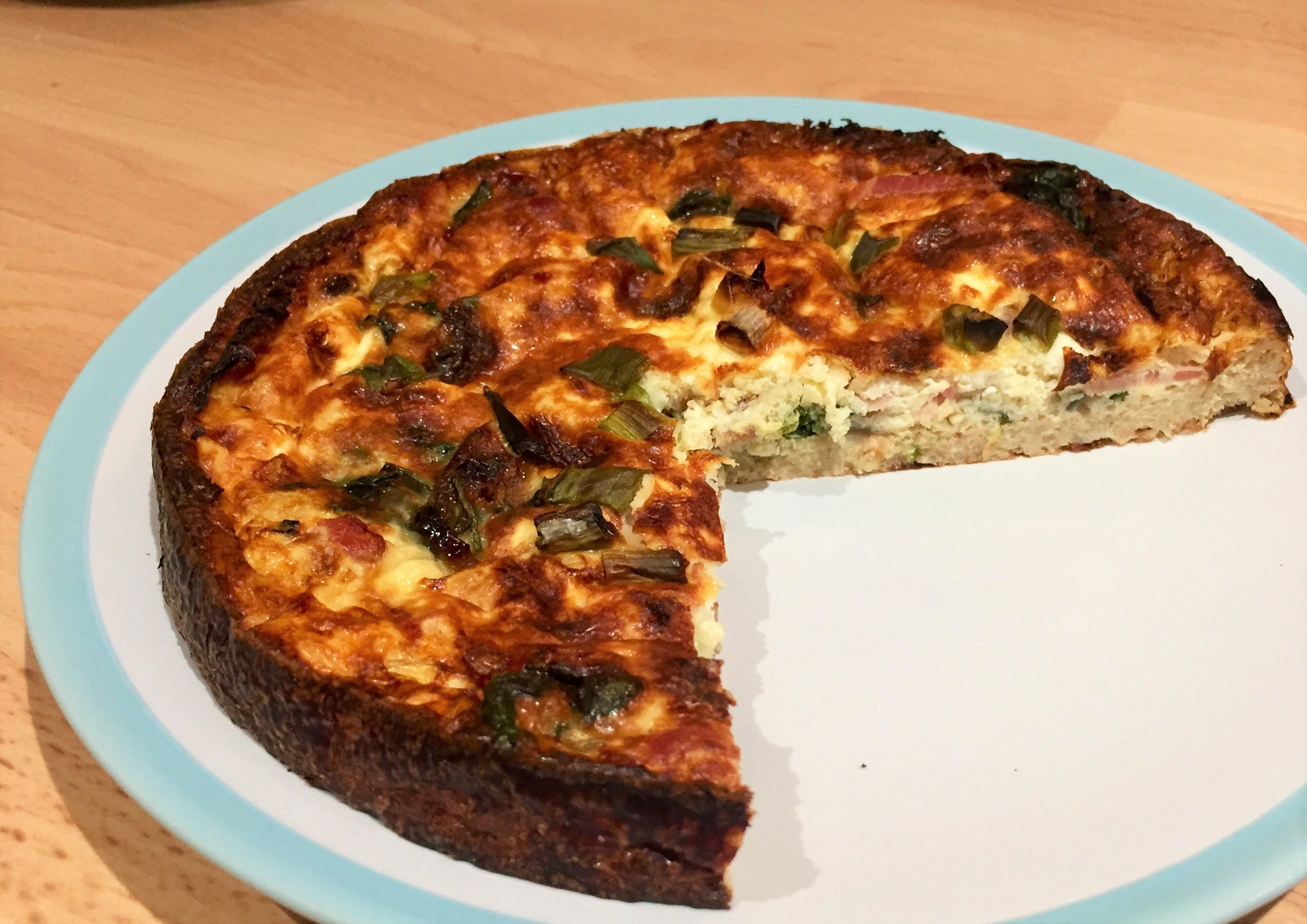 Cauli Crust Quiche for Non-Cauli Lovers or Non-Wheat Eaters