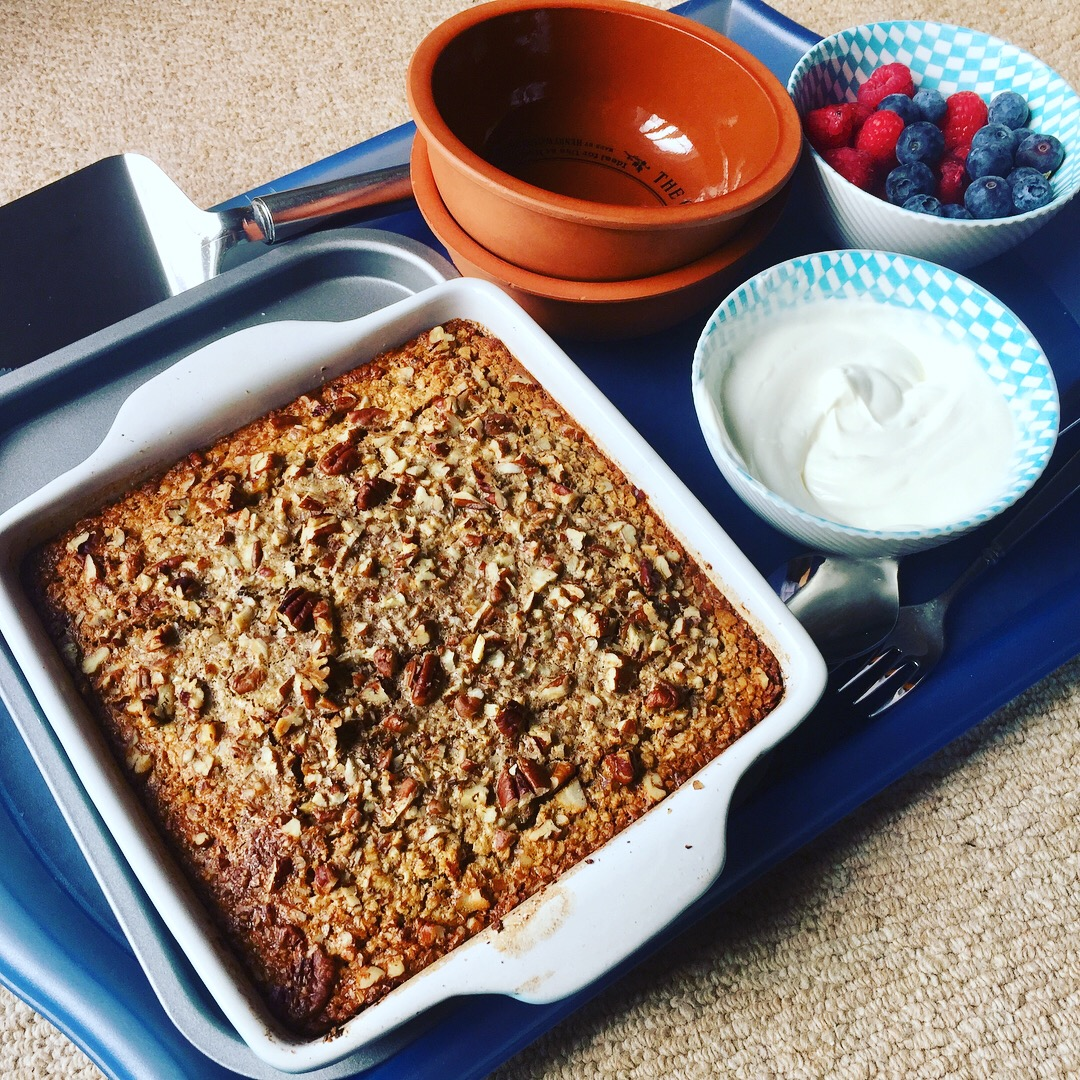 Yummy Maple Pecan Oat Bake